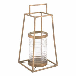 Zuo Modern A10525 Pyramid Lantern Small Antique Gold