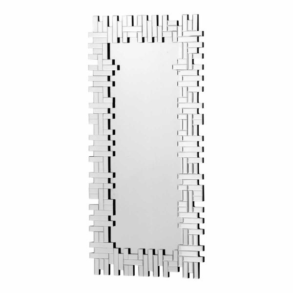 Zuo Modern A11123 Puzzled Rectangular Mirror Clear