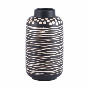 Zuo Modern A11411 Niger Smallall Vase Black & White