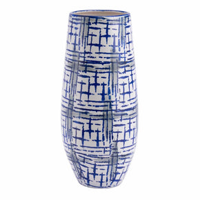 Zuo Modern A11474 Rioja Large Vase Blue & White