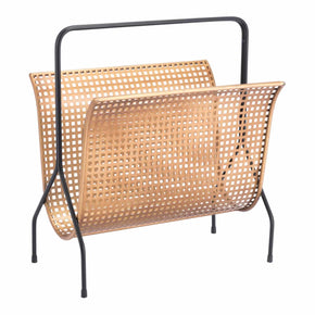 Zuo Modern A11491 Dotted Magazine Rack Gold