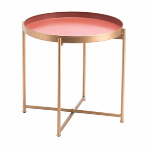 Zuo Modern A11512 Red Short End Table Pink