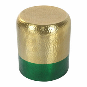 Mia Accent Table Gold & Green