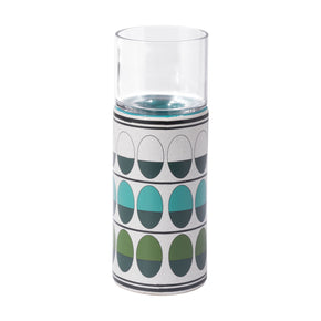 Zuo Modern A11832 Retro Medium Candle Holder Green & Teal