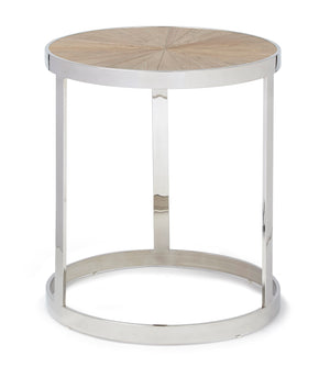 Progressive Furniture A187-68 Oscar Contemporary End Table Chrome/Natural