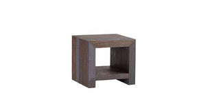 Progressive Furniture A530-68 Rainy Transitional End Table Autumn Gray