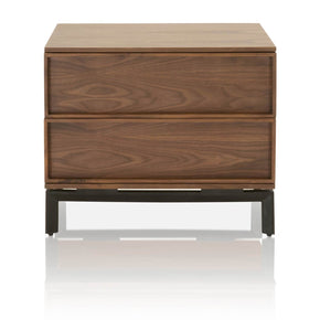 Star International Furniture 4644.WAL Andes Nightstand Walnut, Black