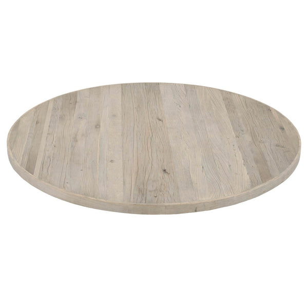 "Orient Express Furniture 8042.SGRY-ELM/TOP Annex 54"" Round Dining Table Top Smoke Gray Elm"