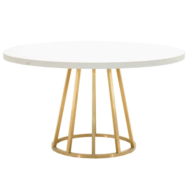 "Annex 54"" Round Dining Table Top White Concrete 