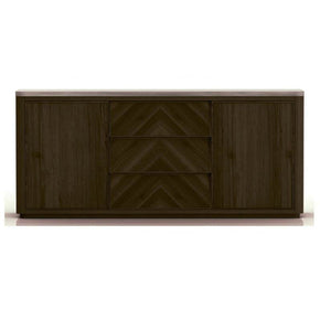 Star International Furniture 4594.CIN/SLA-GRY Apex Buffet Cinder Brushed Acacia, Slate Grey Sealed Concrete