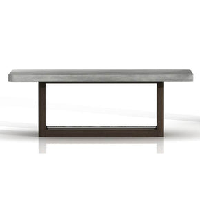Star International Furniture 4595.CIN/SLA-GRY Apex Coffee Table Cinder Brushed Acacia, Slate Grey Sealed Concrete