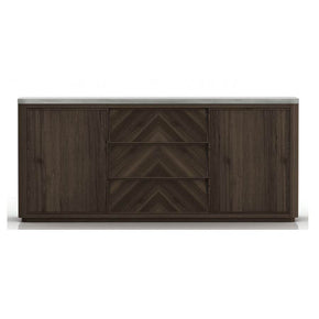 Star International Furniture 4586.CIN/SLA-GRY Apex Double Dresser Cinder Brushed Acacia, Slate Grey Concrete