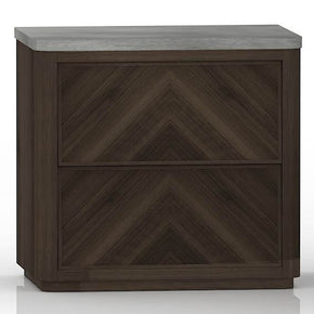 Star International Furniture 4584.CIN/SLA-GRY Apex Nightstand Cinder Brushed Acacia, Slate Grey Concrete