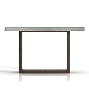 Star International Furniture 4597.CIN/SLA-GRY Apex Sofa Table Cinder Brushed Acacia, Slate Grey Sealed Concrete