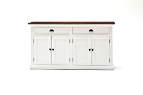 Sideboards - Nova Solo B127TWD Halifax French Countryside Accent Buffet White w/ Brown Top | 8994921002064 | Only $979.00. Buy today at http://www.contemporaryfurniturewarehouse.com