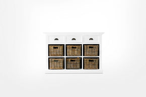 Halifax French Countryside Buffet with 6 Baskets White Semi-gloss