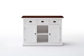 Sideboards - Nova Solo B129TWD Halifax French Countryside Accent Buffet w/ 2 baskets White w/ Brown Top | 8994921002071 | Only $859.00. Buy today at http://www.contemporaryfurniturewarehouse.com