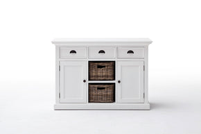 Halifax French Countryside Buffet with 2 baskets White Semi-gloss