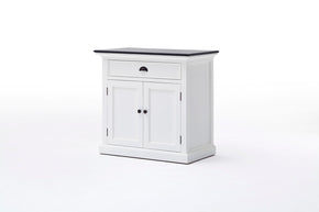Halifax French Countryside Contrast Buffet White-Black Top Semi-gloss