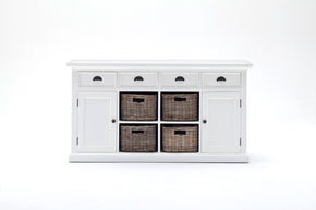 Halifax French Countryside Buffet with 3 Basket set White Semi-gloss