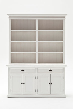 Halifax French Countryside Hutch Bookcase Unit White Semi-gloss