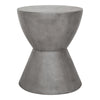 Hourglass Outdoor Concrete Stool