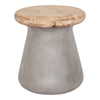 Earthstar Outdoor Stool Concrete