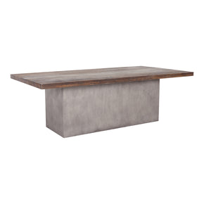 Kaia Contemporary Solid Oak and Concrete Dining Table