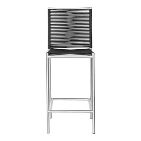 Moe's Home Collection BQ-1034-15 Brynn Outdoor Bar Stool Black