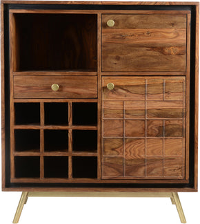 Moe's Home Collection BZ-1062-20 Obra Bar Cabinet Contemporary Modern Dark Brown