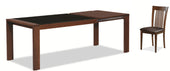 Barcelona Dining Table Expresso/ Glass