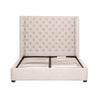 Beds - Orient Express Furniture 7125-1.BIS Barclay Queen Bed Bisque French Linen, Espresso | 842279109448 | Only $1729.00. Buy today at http://www.contemporaryfurniturewarehouse.com