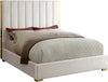 Becca Cream Velvet King Bed