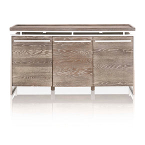 Star International Furniture 2456-BU.SWO Benson Buffet Sand Wash Oak, Stainless Steel