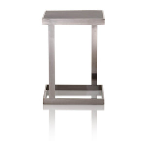 Star International Furniture 2455-ET.BWO Benson End Table Black Wash Oak, Black Stainless Steel