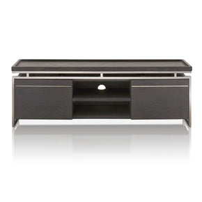 Star International Furniture 2455-TV.BWO Benson TV Unit Black Wash Oak, Black Stainless Steel