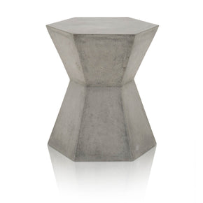Star International Furniture 4610.SLA-GRY Bento End Table Slate Grey Concrete