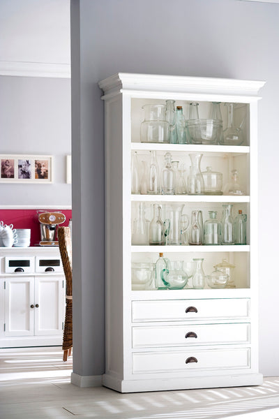 Bookcases - Nova Solo CA580 Halifax French Countryside Bookcase White Semi-gloss | 8994921000435 | Only $869.00. Buy today at http://www.contemporaryfurniturewarehouse.com