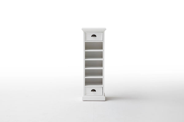 Halifax French Countryside Storage Tower with basket set White Semi-gloss
