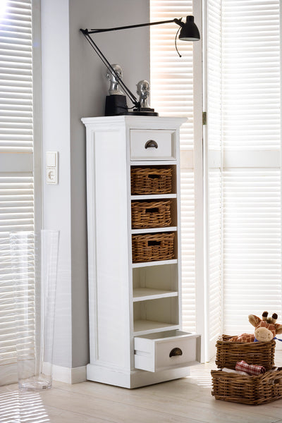 Nova Solo CA583 Halifax Storage Tower with basket set White semi-gloss