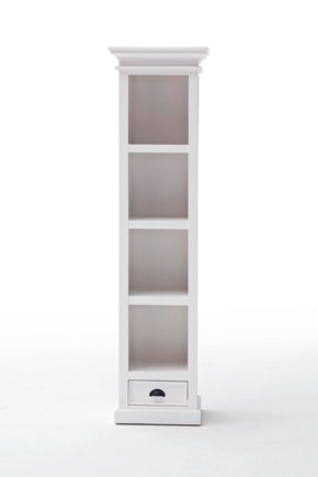 Halifax French Countryside Bookshelf with drawer White Semi-gloss