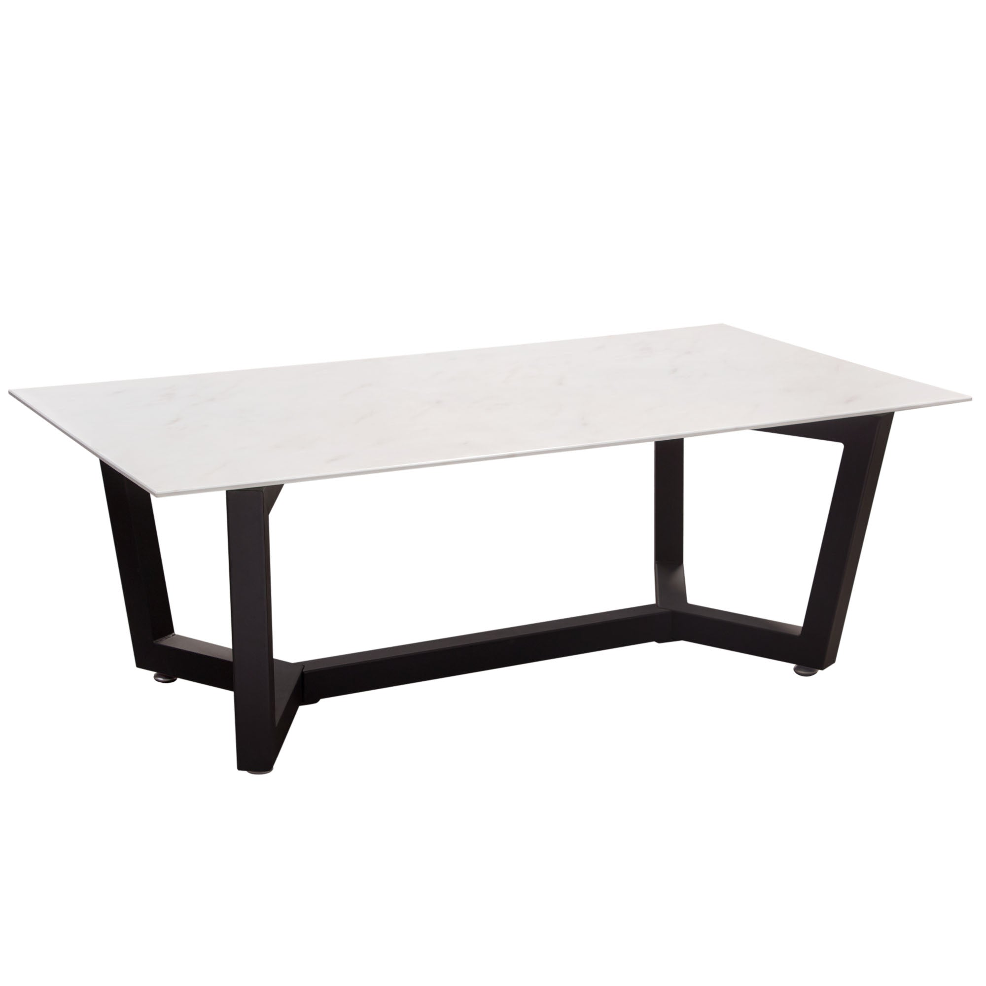 Marble Glass Top Coffee Table: Buy Diamond Sofa CAPLANCTMA Caplan Rectangular Cocktail