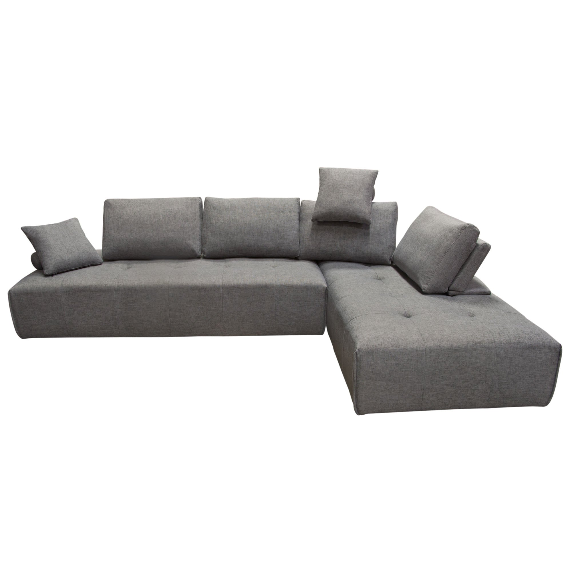 Cloud 2PC Lounge Seating Platforms with Moveable Backrest Supports in Space  Grey Fabric
