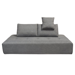 Diamond Sofa CLOUDLGBGR Cloud Lounge Seating Platform with Moveable Backrest Supports in Space Grey Fabric