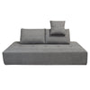 Sofa Beds - Diamond Sofa CLOUDLGBGR Cloud Lounge Seating Platform with Moveable Backrest Supports in Space Grey Fabric | 641427620039 | Only $899.00. Buy today at http://www.contemporaryfurniturewarehouse.com