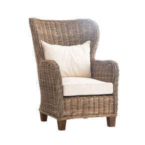 Accent Chairs - Nova Solo CR44 Wickerworks King Chair with seat & back cushions Natural Grey | 8994921001623 | Only $789.00. Buy today at http://www.contemporaryfurniturewarehouse.com
