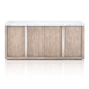Sideboards - Star International Furniture 1049.NG/WHT Chasm Buffet White Carrera Marble, Natural Grey | 842279110130 | Only $2249.00. Buy today at http://www.contemporaryfurniturewarehouse.com