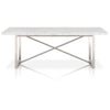 Dining Tables - Star International Furniture 1050.BSTL/WHT Chasm Dining Table White Carrera Marble, Brushed Stainless Steel | 842279100025 | Only $2799.00. Buy today at http://www.contemporaryfurniturewarehouse.com