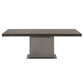 Star International Furniture 4600.SLA-GRY/ESP Cuba Dining Table Espresso, Slate Grey Concrete, Matte Black Metal | Acacia Veneer