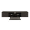 Cuba TV Unit Espresso, Slate Grey Concrete, Matte Black Metal